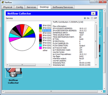 Packet Tracer 6.1.1 netflow collector