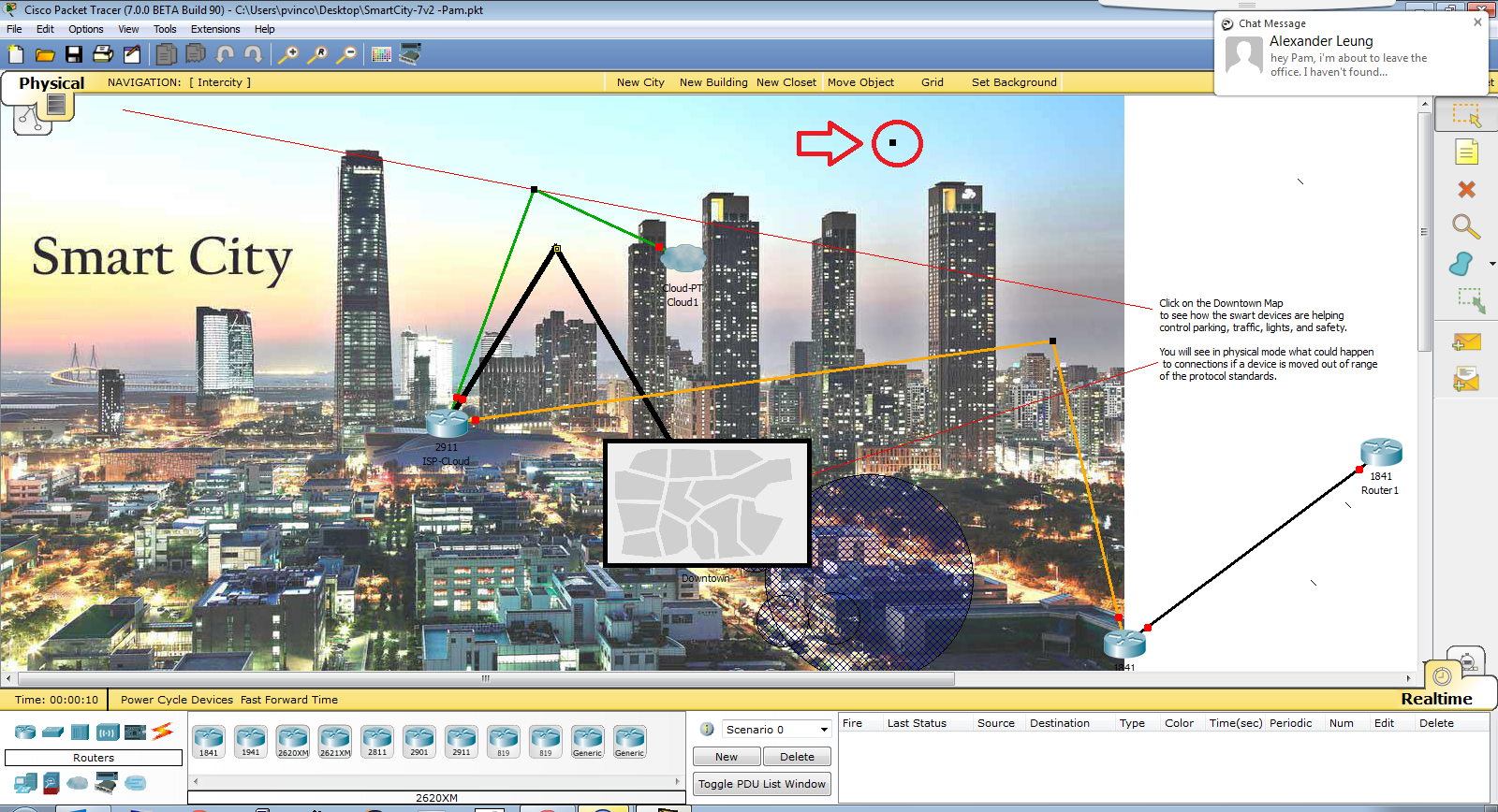 Packet Tracer 7 smart cities scenario preview