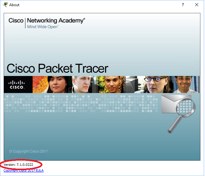 Cisco Packet Tracer 7.1 splash screen
