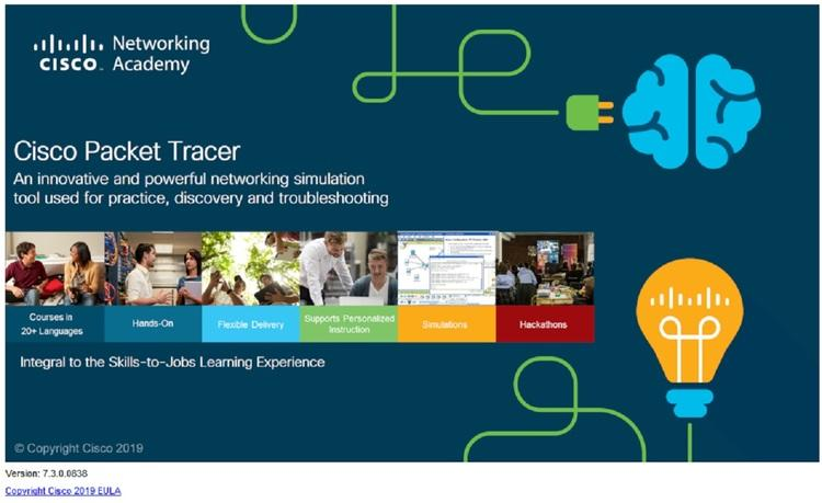 Cisco Packet Tracer 7.3.0 splash screen