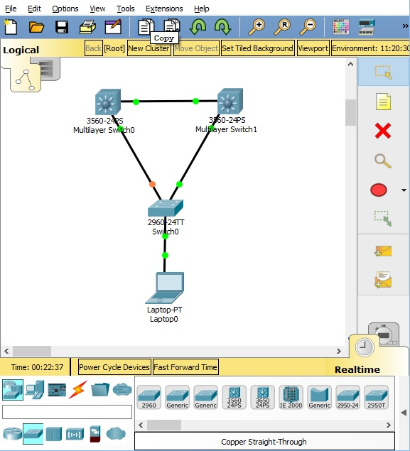 Packet Tracer 7.1.1 HSRP configuration with catalyst 3560 switch